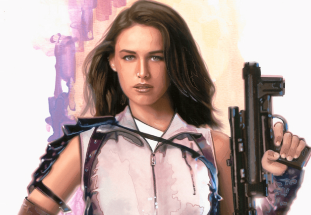 "Bria Tharen, who stole the Death Star plans in ""Rebel Dawn"""