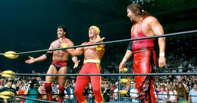 NWO New World Order Forms Bash at the Beach 1996 Hulk Hogan Kevin Nash Scott Hall