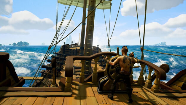 Sea of Thieves steering quiet moments