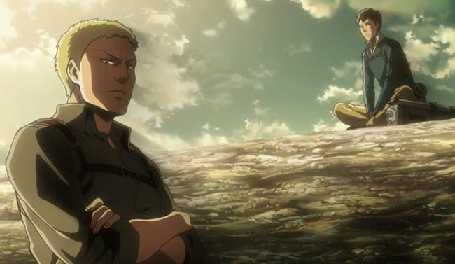 Reiner and Bertholdt in Attack on Titan