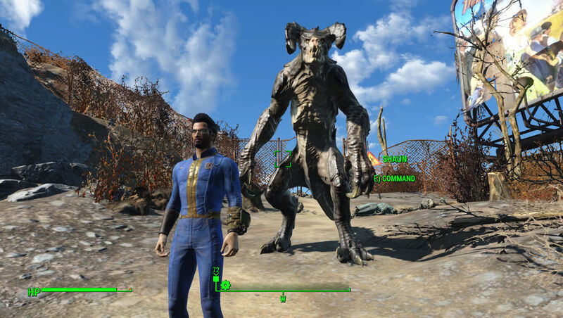 A Deathclaw joins the party in Fallout 4 companions mod