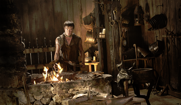 Gendry in the forge