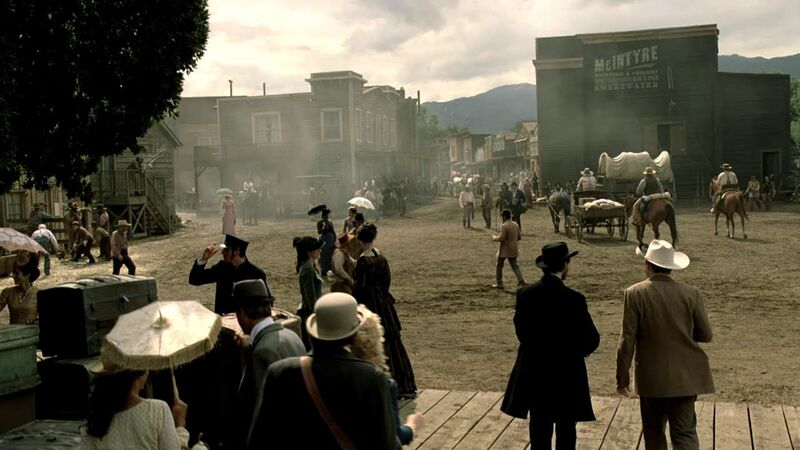 The town that comprises Westworld, down to the last detail