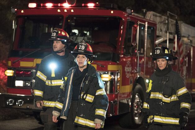 Grey Damon, Jaina Lee Ortiz, and Danielle Savre