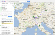 Google Map Journey of Amy and Dan Journey Kings Ransom