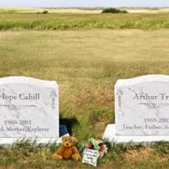 Hope Cahill and Arthur Trent's graves