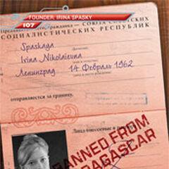 Irina Spasky's old passport