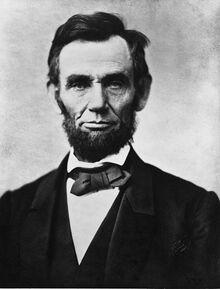Abraham Lincoln - head & shoulders portrait