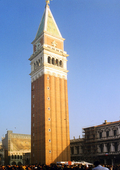 422px-San Marco (St Mark's), Venice, Campanile from Piazza Feb 1998