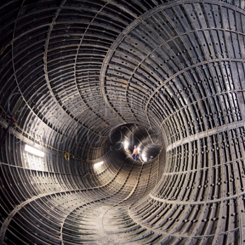 A015-00387 Ventilation and escape tunnel on the Jubilee Line of the London Underground United Kingdom