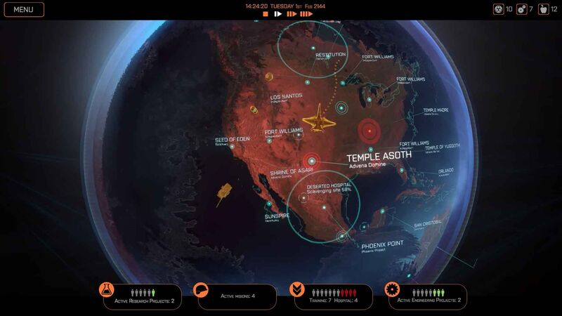 Phoenix Point metagame choosing missions