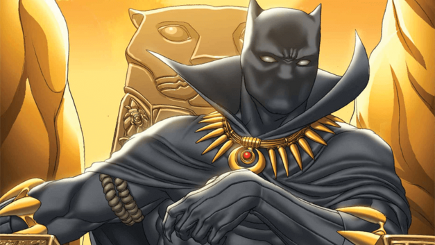 Black Panther on gold throne