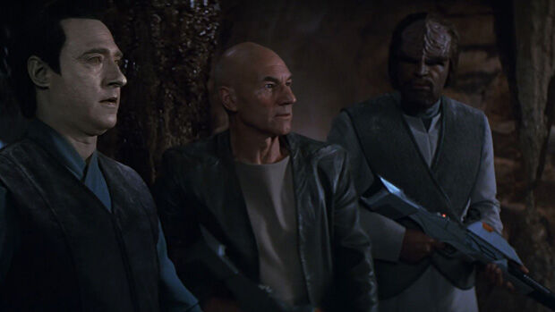 Data, Picard, Worf