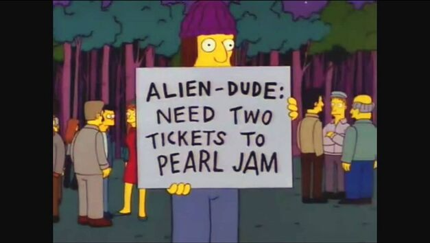 simpsons need two tickets to pearl jam