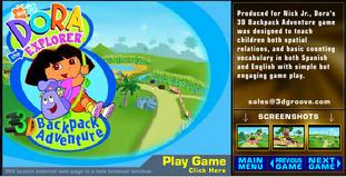 Dora The Explorer Backpack Adventure 3D Title