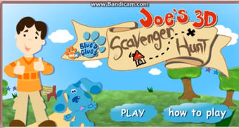 Blues Clues Title Screen