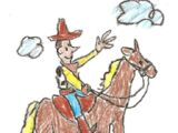 Toy Story 1 Woody On Horse Drawing