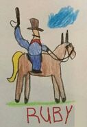 Toy Story 1 Random Cowboy On Horse Drawing (Ruby edition)