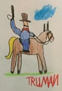 Toy Story 1 Random Cowboy On Horse Drawing (Truman edition)