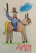 Toy Story 1 Random Cowboy On Horse Drawing (Andy edition)