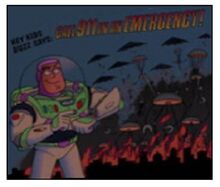 Toy Story Buzz Lightyear 911 Poster