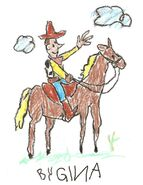 Toy Story 1 Woody On Horse Drawing (Gina)