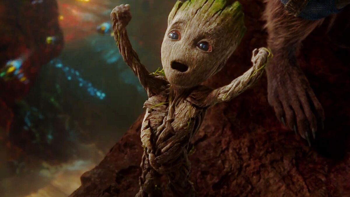 Guardians of the Galaxy Baby Groot celebrating