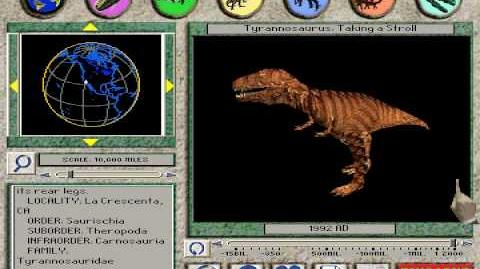 Tyrannosaurus Taking a Stroll From 3-D Dinosaur Adventure MS-DOS Packard Bell Version