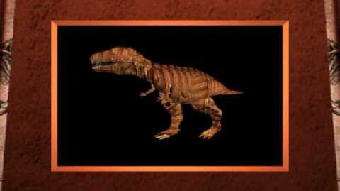 Walking Tyrannosaurus Movie from 3-D Dinosaur Adventure MS-DOS Packard Bell Version