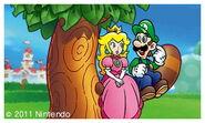 Peach and Luigi on the Tanooki Tree