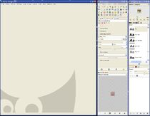 GIMP - Fenêtre de travail