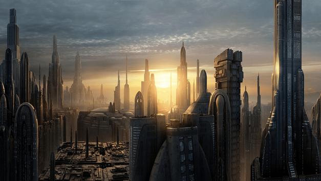 Star Wars planet Coruscant-Galactic-City