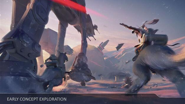 Star Wars Battlefront II tauntaun