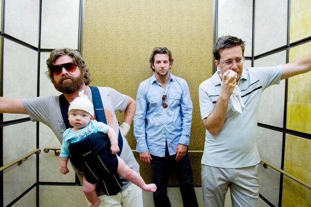 the hangover galifinakis cooper helms hungover in lift