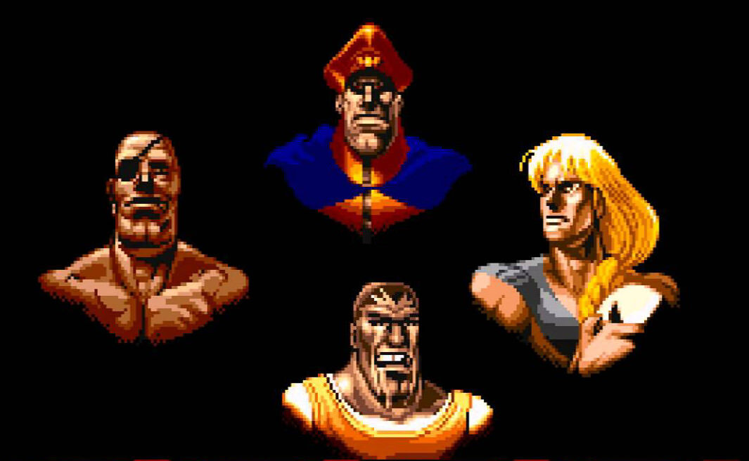 The four bosses in Street Fighter II