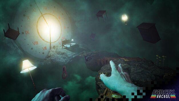 Far Cry 5 giant clock in dream world