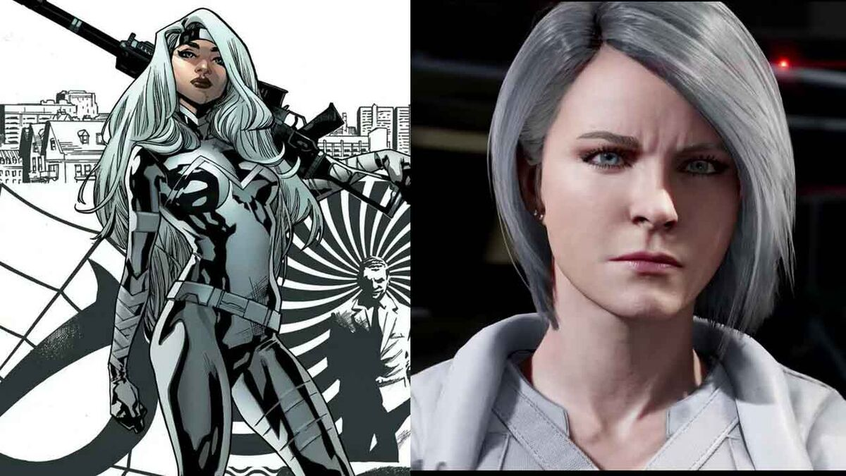 Silver Sable comic and PS4 versions