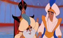 Sultan Cheers up Aladdin