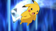 Ash's Pikachu Iron Tail Move