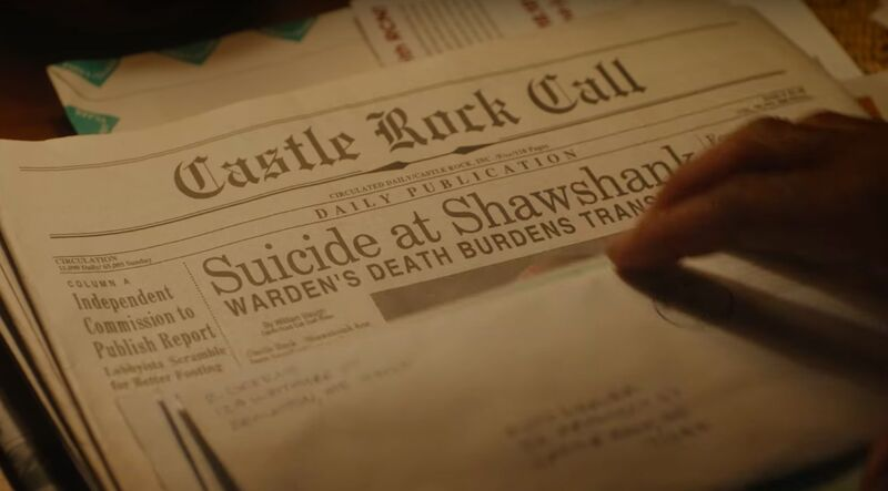 The new Stephen King shared universe series 'Castle Rock' debuted its first trailer during Superbowl 52, featuring a reference to Shawshank Prison.