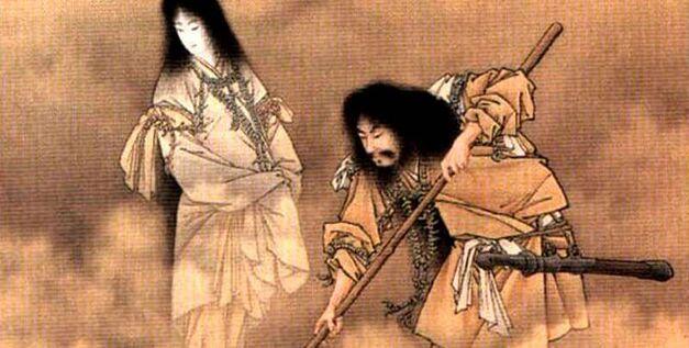 Izanagi and Izanami stir the waters with Onogoroshima