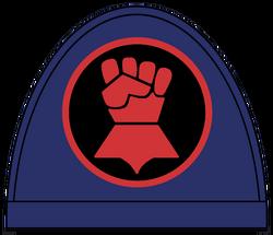Crimson fists shoulder