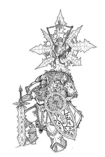 Tags bw, chaos, greyall, shield, space marines, sword, word bearers