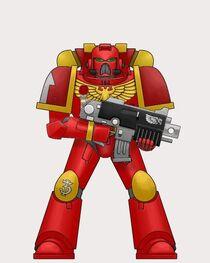 Arcangel Rojo Táctico con bolter