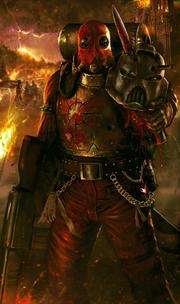 Miliciano del Caos combatiendo