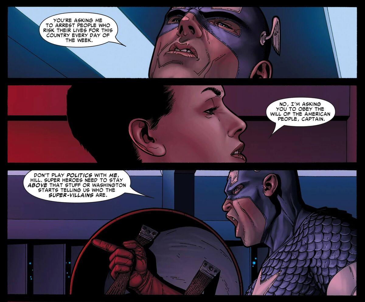 Superhuman Registration Act Captain America Marvel Civil War