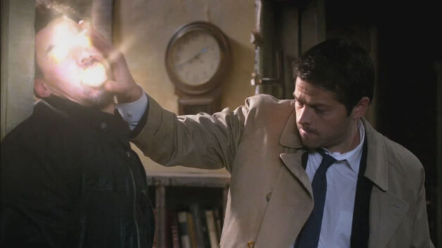 Supernatural Castiel Smites Demon