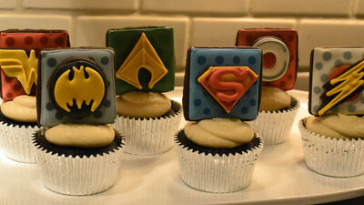 Unite Your Tastebuds With These Delicious 'Justice League' Cupcakes