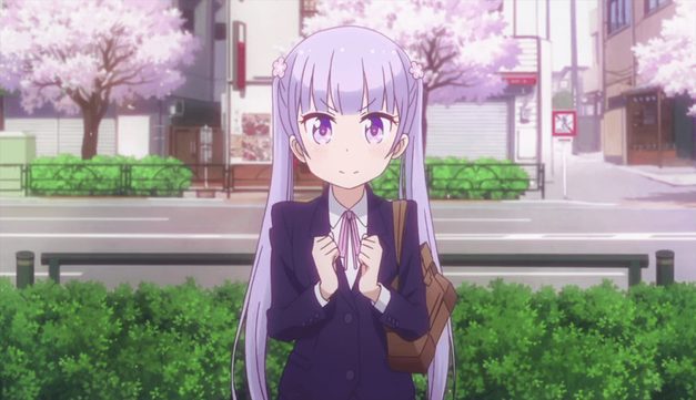 meaning cherry blossoms in anime New Game!