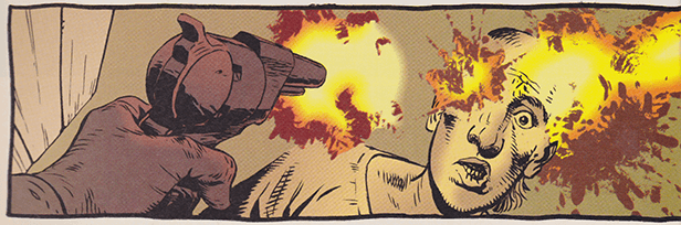 Saint of Killers murders Pilo, from the Preacher comic books